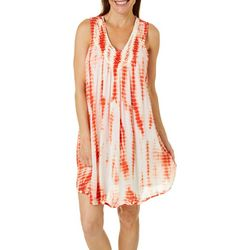 Studio West Womens Tie Dye Swim Cover-Up
