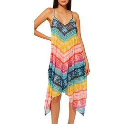 Womens Colorful Chevron Tie Dye Cover-Up