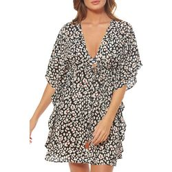 Jessica Simpson Womens Cool Cats Print Swim Cover-Up