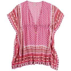 Womens Boho Short Caftan Cover-Up
