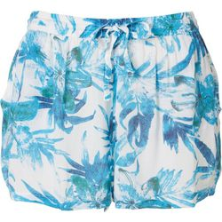 Rise & Bloom Womens Floral Drawstring Fabric Shorts
