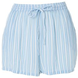 Rise & Bloom Womens Candy Striped Drawstring Fabric Shorts