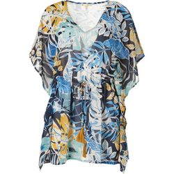 Rise & Bloom Womens Leafy Tassel Tunic
