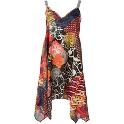 Rise & Bloom Womens Diamond Patterned Slip Dress
