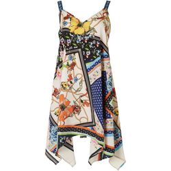 Rise & Bloom Womens Floral Chord Slip Dress