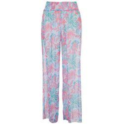 Stella Parker Womens Tropical Flowy Pants