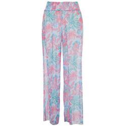 Womens Tropical Flowy Pants