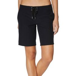 Nautica Womens Solid Lace Up 9 Board Shorts