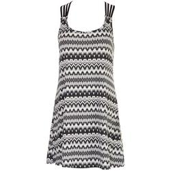 Womens Ikat Crochet Back Swim Cover-Up