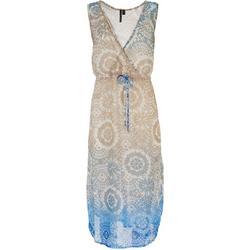 Womens Ombre Tie Dye Maxi Swim Cover-Up