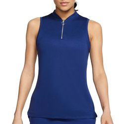 Golf Womens Dri-FIT Solid Sleeveless Polo Shirt