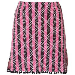 Golftini Womens Diamond Striped Golf Skort
