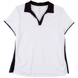 Ruby Rd Golf Womens Solid Short Sleeve Top