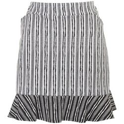 Ruby Rd Womens Striped Pattern Skort