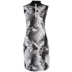 Ruby Rd Womens Tropical Dress With 1/4 Zipper