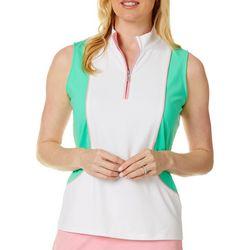 Ruby Rd Golf Womens Colorblock Sleevless Top