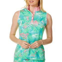 Ruby Rd Golf Womens Tropical Print Sleevless Top
