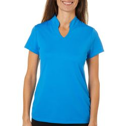 Ruby Road Golf Womens Solid Pique Polo Golf Shirt