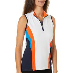 Ruby Road Golf Womens Colorblock Sleeveless Polo Shirt