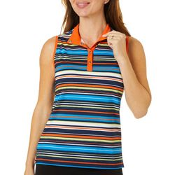 Ruby Road Golf Womens Bright Stripes Polo Golf Shirt