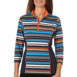 Ruby Road Golf Womens Stripe Colorblock Polo Shirt