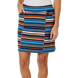 Ruby Road Golf Womens Stripe Print Pull On Skort