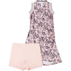 Bette & Court Womens Printed Golf Dress With Shorts