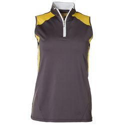 Sport Haley Womens Colorblock Sleeveless Golf Polo