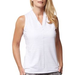 Sport Haley Womens Solid Sleeveless Golf Polo