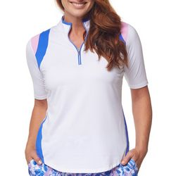 Bette & Court Womens Two Toned Golf Shirt