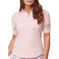 Bette & Court Womens Textured Golf Shirt