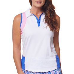 Bette & Court Womens Multi Colored Sleevless Top