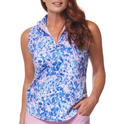 Bette & Court Womens Floral Printed Golf Tank Top