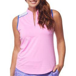 Bette & Court Womens Two Colored Sleevless Golf Tank Top