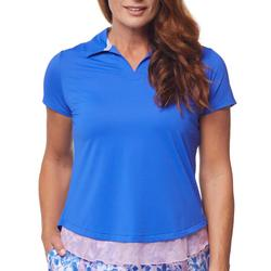 Womens Solid Short Sleeve Open Back