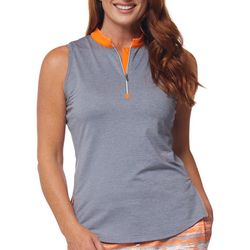 Bette & Court Womens Solid Sleevless Solid Golf Tank Top