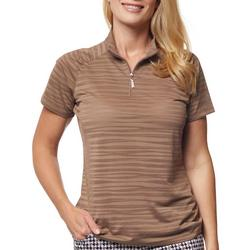 Sport Haley Womens Zip-Up Neck Active Polo