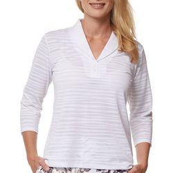 Sport Haley Womans Sheer 3/4 Sleeve Shirt