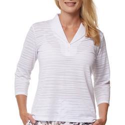 Womens Sheer 3/4 Sleeve Shirt
