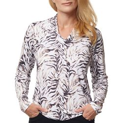 Sport Haley Womans Thin Leaves Long Sleeve Top
