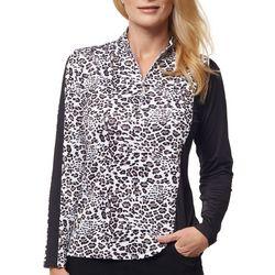 Sport Haley Womens Animal Print Long Sleeve Top