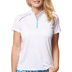 Sport Haley Womens Solid Short Sleeve Golf Polo