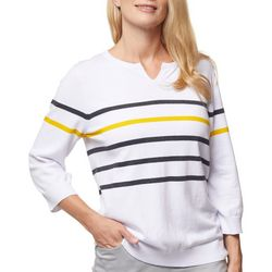 Sport Haley Womens Striped Long Sleeve Top