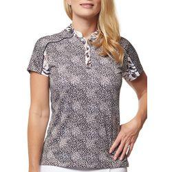 Sport Haley Womens Printed Short Sleeve Golf Polo