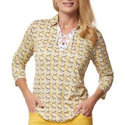 Sport Haley Womans Tie Up Point Collar Shirt