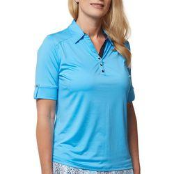 Sport Haley Womens Solid Short Sleeve Top