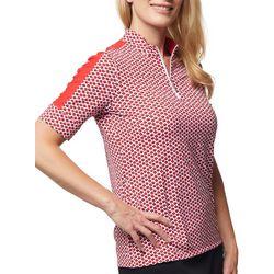Sport Haley Womens Printed Short Sleeve Golf Top