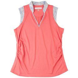 Pebble Beach Womens Solid Polo Shirt