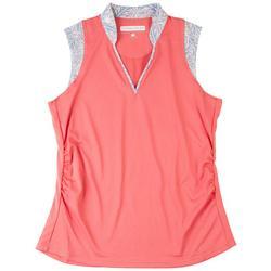 Womens Solid Polo Shirt