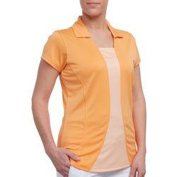 Pebble Beach Womens Solid Bodymap Polo Shirt